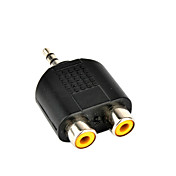 Mono 3.5mm Plug To 2x RCA Jacks