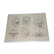 10 Pcs Tattoo Practice Skin with Skulls Outlines