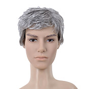 Capless Short Grey Straight Hair Wig
