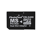 dual microSD a MS Pro Duo tarjetas de memoria del adaptador (negro)