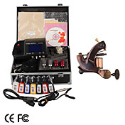 Damascus Hand-made 1 Tattoo Machines Kit with Superior LED Power Supply