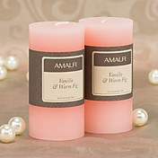 Rose Scented Pink Pillar Candle