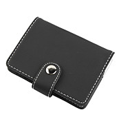 Elegant Leather Business Card Case (Black)