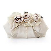 preciosa de raso / tul noche shell bolsos / garras ms colores disponibles