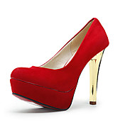 Suede Upper Closed-toes High Heel Fashion Shoes