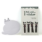 cat style klebrige Notizblöcke Set (black & white)