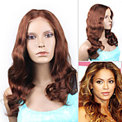 Beyonce's Fashionable Style Custom Full Lace Natural Wave 16&quot; Indian Remy Hair - 26 Colors To Choose