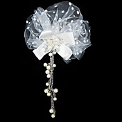 Gorgeous Tulle With Imitation Pearls Wedding Bridal Headpiece