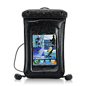 2-in-1 custodia in pelle impermeabile con auricolari per iPod, iPhone, Android, telefoni cellulari e MP4 / 3 giocatori