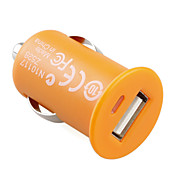 1000mA mini USB Autoladegerät für iPhone / iPod / Handy - orange