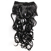 Black Curly Clip In Hair Extension