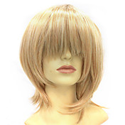 Capless Short Hign-temperature Resistance Blonde Costume Party Wig