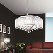 Elegant Crytal Pendant Light with 6 Lights in Cylinder Shade