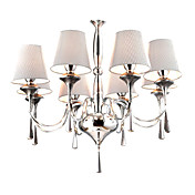 GOLETA - Lustre Moderne Cristal Abat-Jour - 8 slots  ampoule