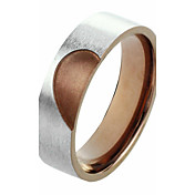 Men's Silver With Chocolate Titanium Steel Ring