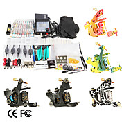 5 Gun Tattoo Kit with  LCD Power and 40 Ink Altogether 1084 pcs