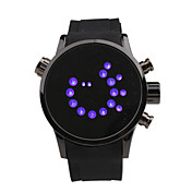 Modern Women Men Unisex Fashion Style LED Wrist Watch - Black