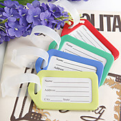 Hard Plastic Luggage Tag Favors – Set of 12 (More Colors)