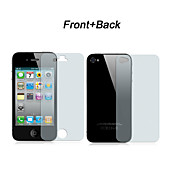 Protezione (anteriore + posteriore) trasparente per iPhone 4/4S con panno