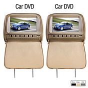 Deluxe 9 Inch Car DVD Player and Protective Screen Cover (Games, FREE Headphones, FM, 1Pair)