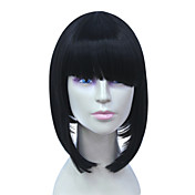 Capless Bob Style High Temperature Wire Black Hair Wig