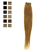 100% Human Hair Machine Made Silky Straight Weft 13 Colors To Choose