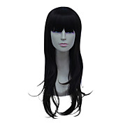 Capless Long High Temperature Wire Black Straight Hair Wig
