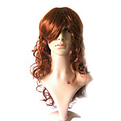 Capless Long 100% Kasi Fiber Brown Costume Party Wig