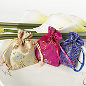 Chinese Style Flower Print Favor Bag – Small (Set of 12)