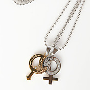 Gender Symbol Necklace (set of 2)