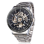 Waterproof Self-Winding Mechanical Silver Wrist Watch