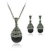 Drop Style Earrings and Necklace Jewelry Set