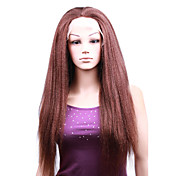 "Full Lace With Stretch On Crown Kinky Straight 20"" Indian Remy Lace Wig 5 Colors To Choose"