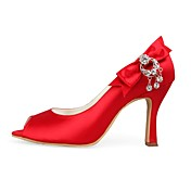 Satin Upper Rhinestone Pumps Wedding Shoes More Colors Available