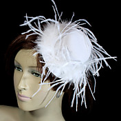 Gorgeous Velvet And Feather Bridal Hat/Headpiece