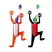 Bathroom Climbing Man Design Toothbrush Holder (Random Color)