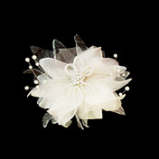 Beautiful Satin/Imitation Pearl Wedding Flowers/Headpiece