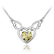 45-cm Flying Heart Austrian Crystal Necklace