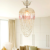 1 - Light Crystal Pendant Light in Pink Feature