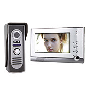 7 Inch Color TFT LCD Video Door Phone Intercom System with Waterproof Camera (420 TVL)