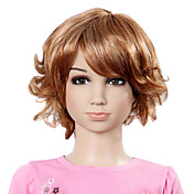 Capless Short Top Grade Synthetic Fashion Curly Children's Wig-2 Colors Available
