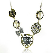 Vintage Style Linked Medallions Necklace
