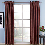 (Two Panels) Watch Embossed Blackout Thermal Curtains