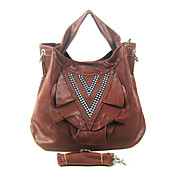 Faux Leather With Crystal/Rhinestone Shoulder Bag/Tote (More Colors)