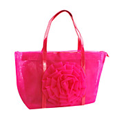 PVC With Flower Shoulder Bag/Tote (More Colors)