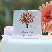 Personalized Autumn Tree Print Wedding Cake Topper