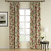 (Two Panels) Spring Coming Print Flower Energy Saving Curtains