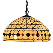 Tiffany Pendant Light with 2 Light in Warm Light