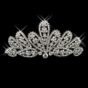 Alloy With Rhinestone And Pearl Posh Bridal Tiara