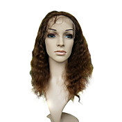 Lace Front Medium Long Deep Wave 100% India Reme Hair Wig Multiple Colors Available